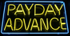 payday advance loan neon sign